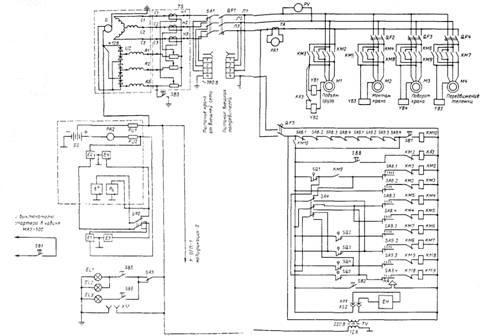 Принципиальная электрическая схема козлового крана фото 977