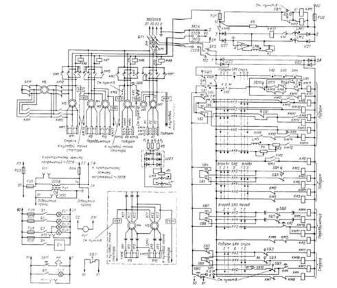 Кран КБ-160.2.  Схема электрическая принципиальная.