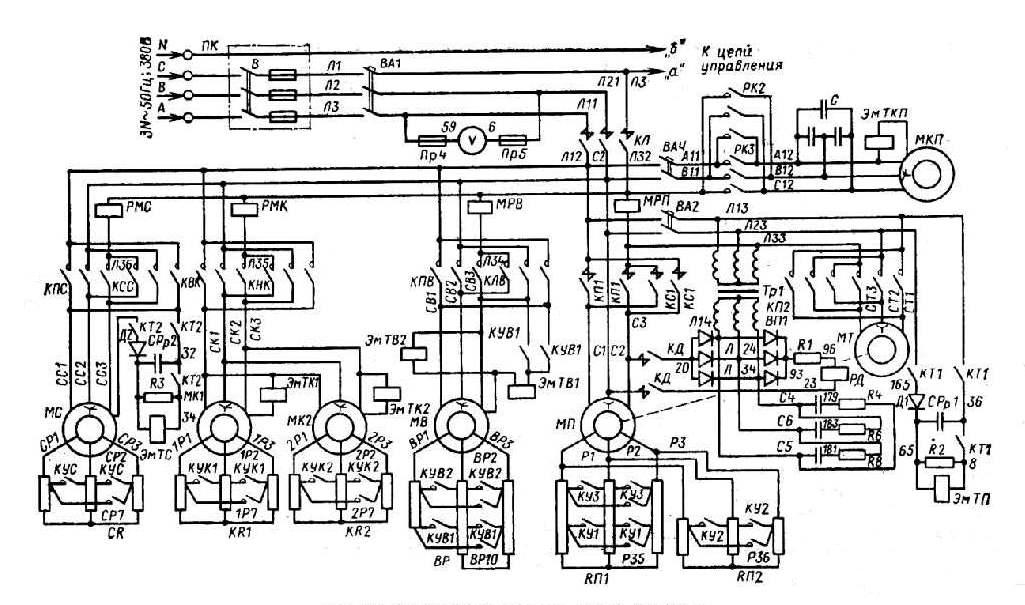 Кран КБ-405.1. Схема