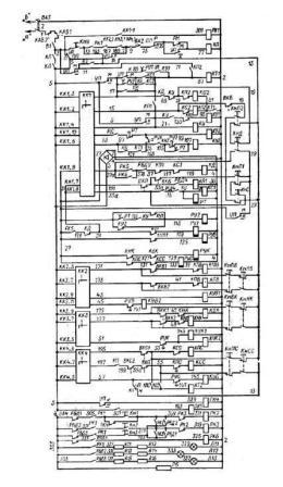 козловой кран электросхема