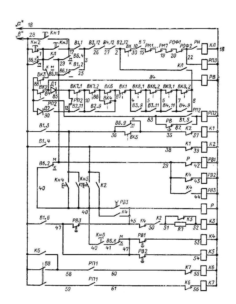 Монтажная электрическая схема башеных кранов.
